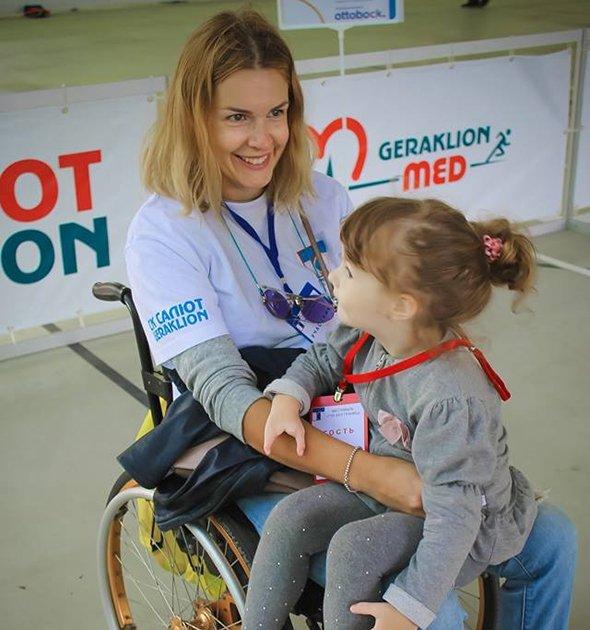 Евгения Воскобойникова с дочкой