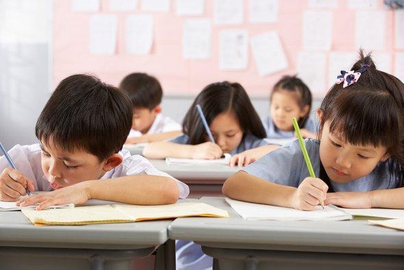 Китайские дети учатся