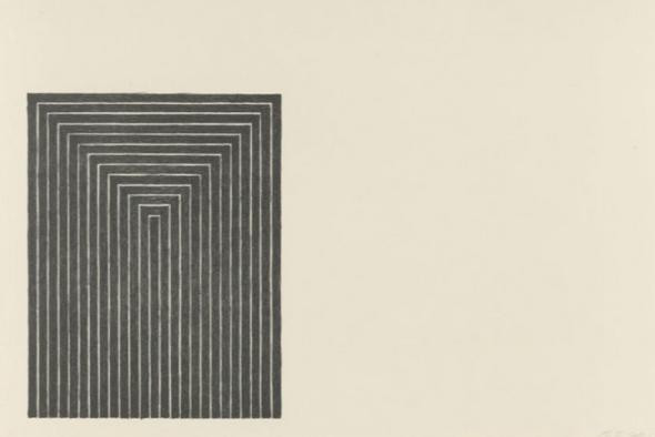Черная серия 1 (Фрэнк Стелла, 1967) — иллюстрация к статье история искусства, раздел — минимализм