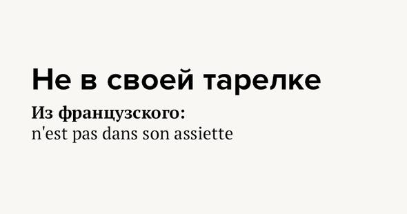 Невсвоей тарелке Изфранцузского: n'est pas dans son assiette