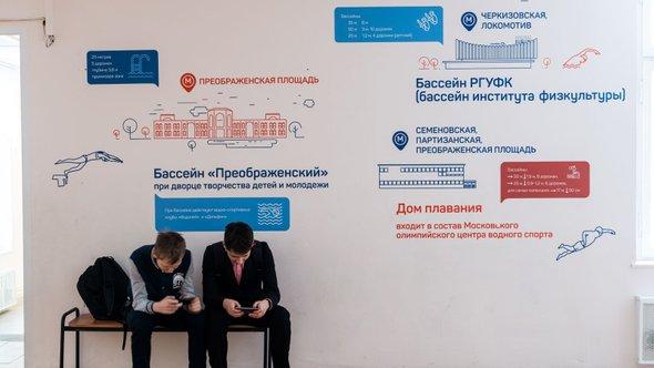 оформление рекреации ГТО школы №1080 студией 33dodo