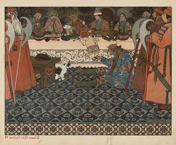 Иллюстрация Ивана Билибина к«Сказке оцаре Салтане», 1905 год