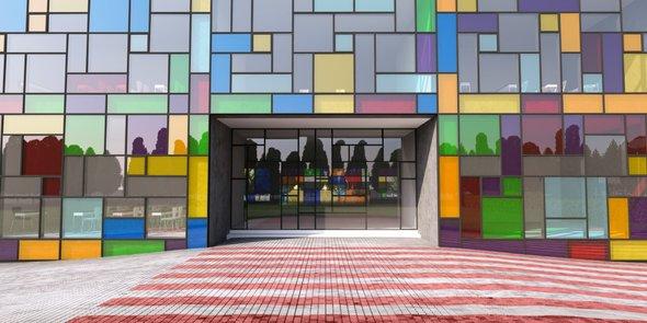 Яркие краски фасадов
