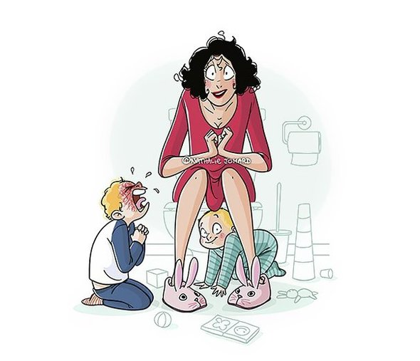 Веселые картинки про материнство, новым годом картинка