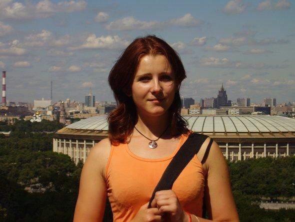На смотровой площадки в МГУ, зачисление на первый курс  (2007 год)