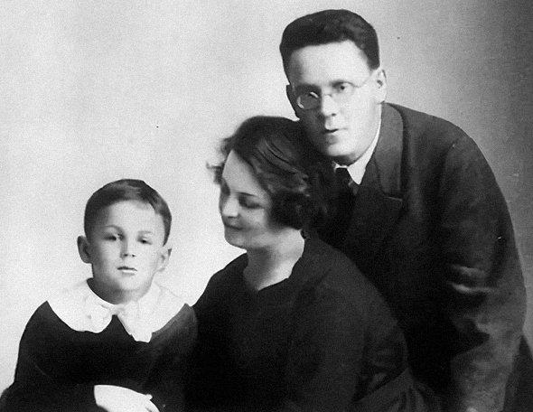Супруги Маршак с сыном Иммануэлем