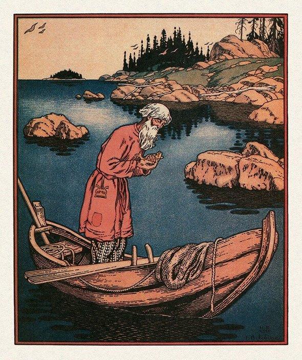 Иллюстрация Ивана Билибина к«Сказке орыбаке ирыбке», 1933 год