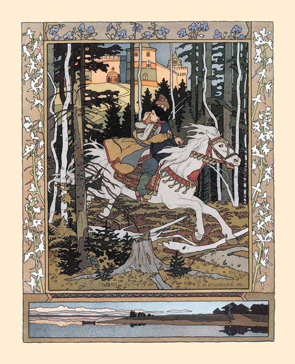 Иллюстрация Ивана Билибина ксказке «Марья Моревна», 1901 год