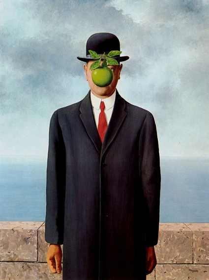 Сын человеческий (Рене Магритт, 1964) — иллюстрация к статье история искусства, раздел — сюрреализм.
