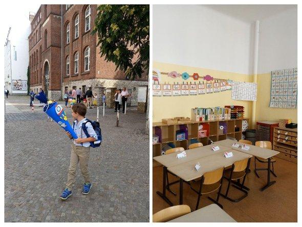 Первый школьный день в немецкой школе