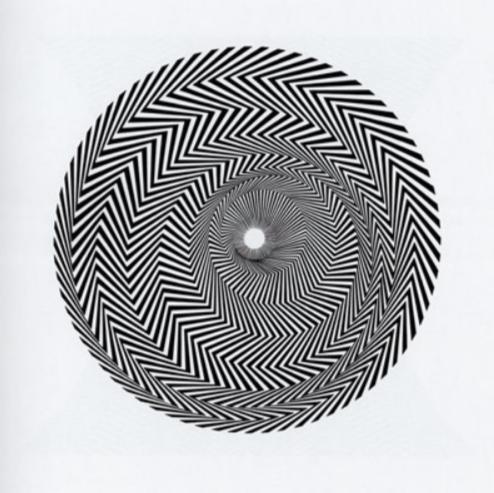 Blaze (Вспышка) (Бриджет Райли, 1964) — иллюстрация к статье история искусства, раздел — Оп-арт.