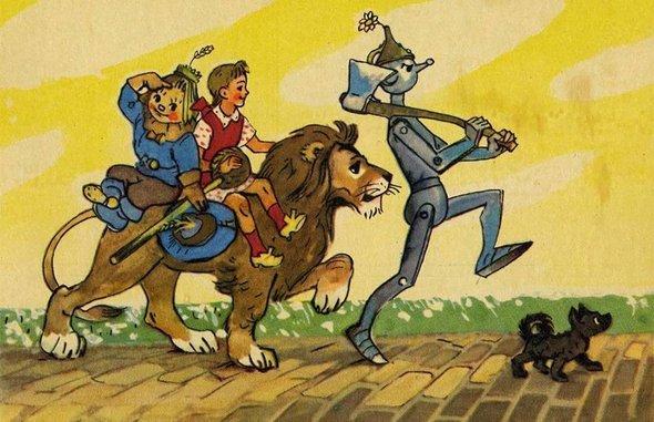 Иллюстрация Леонида Владимирского из книги «Волшебник Изумрудного города»