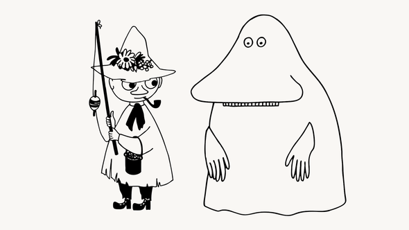 Снусмумрик иМорра / Иллюстрация: Moomin Characters