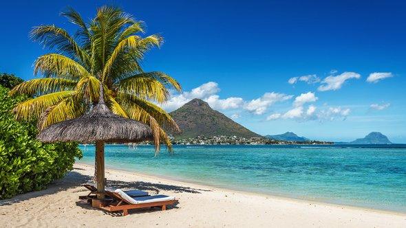 Пляж наМаврикии