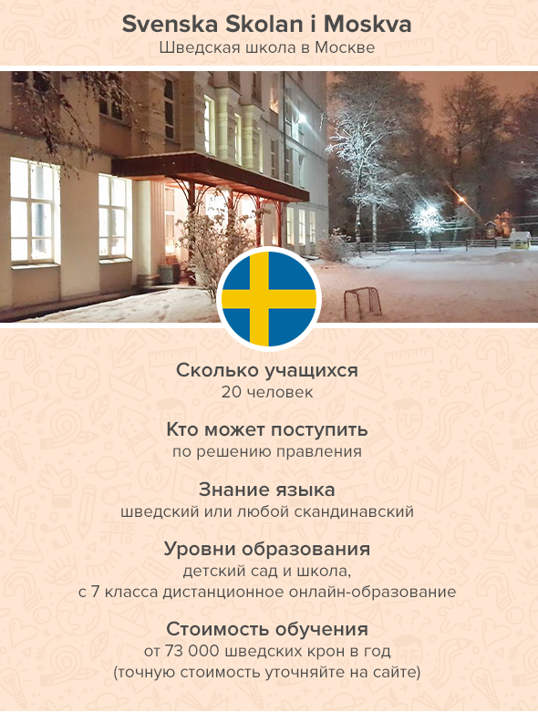 Svenska Skolan i Moskva Шведская школа вМоскве