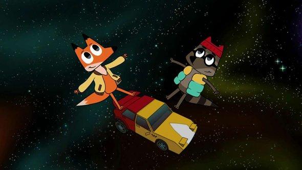 Кадр измультфильма «Лекс иПлу. Космические таксисты»
