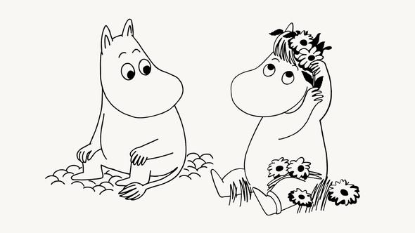 Муми-тролль иФрекен Снорк / Иллюстрация: Moomin Characters