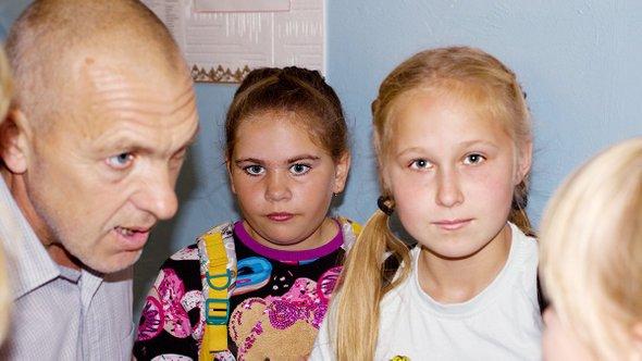 Владимир Филипцев спятиклассниками
