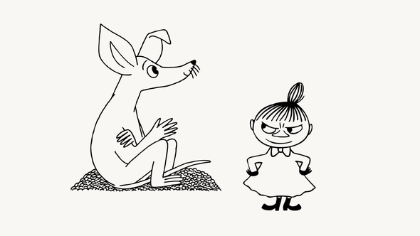 Снифф иМалышка Мю/ Иллюстрация: Moomin Characters