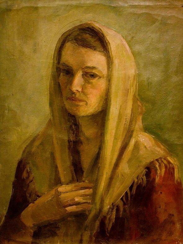 Нина Луговская. Автопортрет. Вторая половина 1940-х— начало 1950-х годов