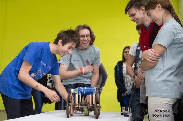Испытания вездехода. Школьники из инженерных классов в МосПолитехе