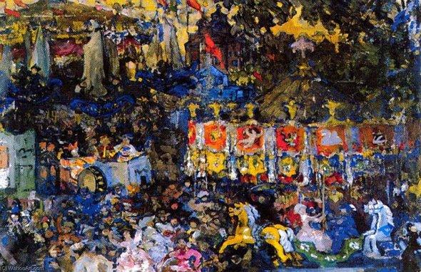 Николай Сапунов. «Веселая карусель». 1908 год