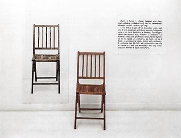 Один и три стула (Джозеф Кошут, 1965) — иллюстрация к статье история искусства, раздел — концептуальное искусство.