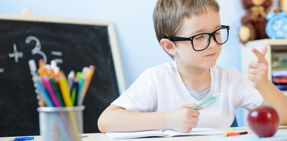 Ребёнок изучает математику