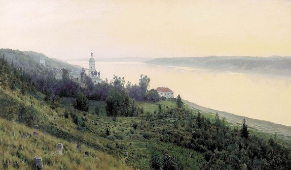 Исаак Левитан. «Вечер. Золотой Плёс». 1889 год