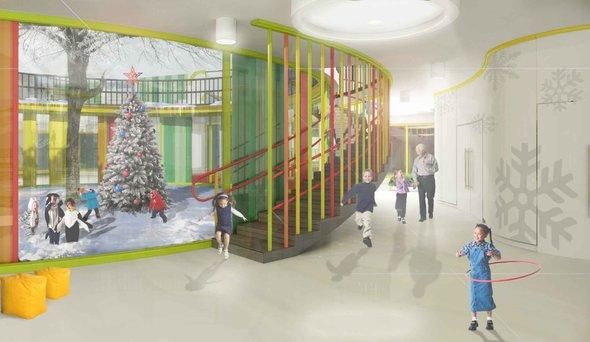Безопасный интерьер детского сада IND  architects