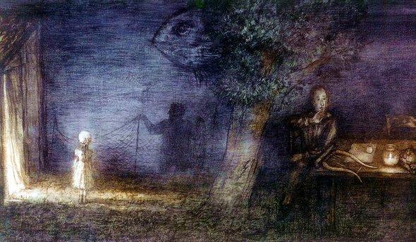 """Кадр из фильма """"Сказка сказок"""". Режиссёр Ю.Норштейн."""